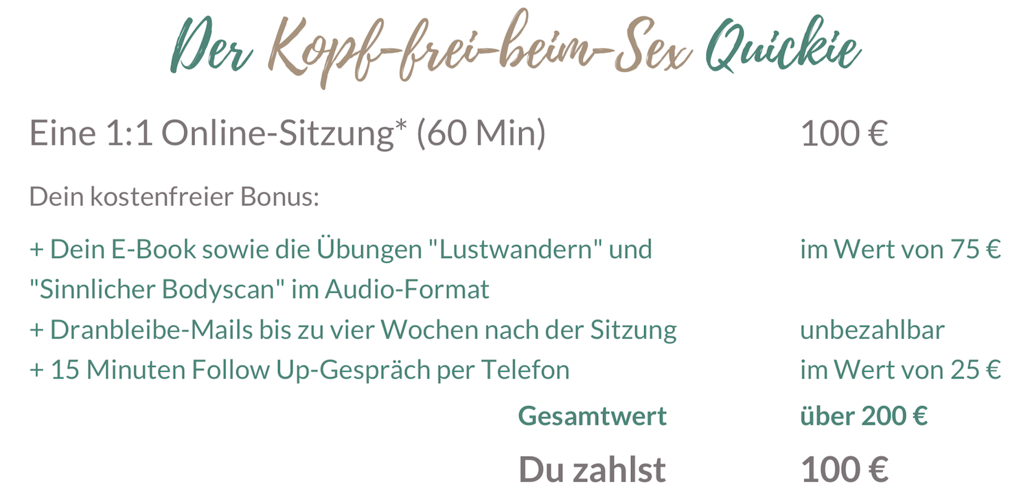 Sexual Life Coaching Einzelsitzung online